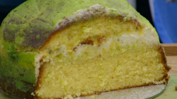 Kim-Joy's passionfruit cake on the Great British Bake Off 2018 Final