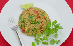 Steven and Chris quinoa with vegetables and Asian style dressing on Eat Well For Less?