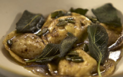 James Martin's Pumpkin Ravioli with Beurre Noisette and Crispy Sage on James Martin' ...