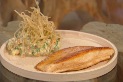 Tommy Banks ray wings with fermented fries and hazelnut tartare sauce on Saturday Kitchen