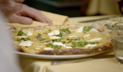 Gordon Ramsay lemon curd sourdough pizza on Gordon, Gino and Fred: Road Trip