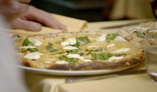 Gordon Ramsay lemon curd sourdough pizza on Gordon, Gino and Fred: Road Trip