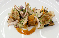 Olly's eggy bread with mushrooms and  Madeira sauce on MasterChef: The Professionals