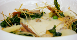 Shaun's cold leek and potato soup on Masterchef The Professionals