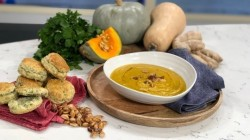 Isaac Carew's pumpkin soup with savoury scones on This Morning