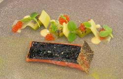 Dean's sea trout with seaweed, cucumber, row and wasabi on MasterChef: The Professionals