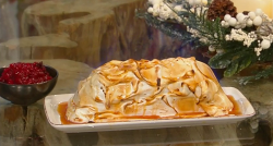 Glynn Purnell festive baked Alaska with rum and red compote on Saturday Kitchen