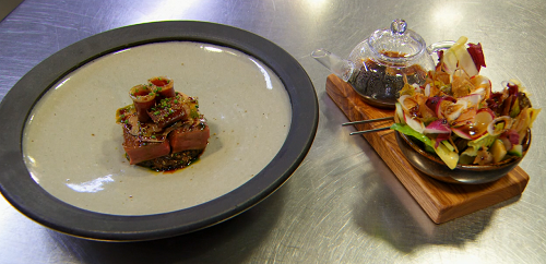 Paul Ainsworth  BBQ Cornish duck with with salad and Peking teaon MasterChef The Professional 2018