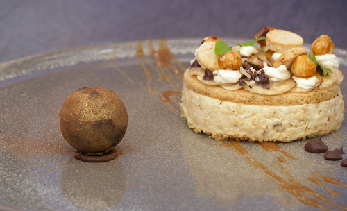 Dean's banoffee pie with hazelnut shortbread and salted caramel on MasterChef The Professi ...