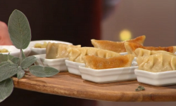 Adria Wu Chinese Christmas dumplings on Sunday Brunch