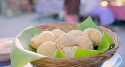 Nadiya Hussain coconut and sesame seeds rice balls on Nadiya's Asian Odyssey