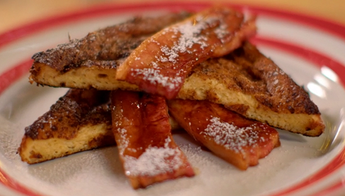 Paul Ainsworth's eggy bread with smoke bacon breakfast on The Best Christmas Food Ever