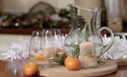 Kirstie Allsopp's festive ice cubes on Kirstie's Handmade Christmas