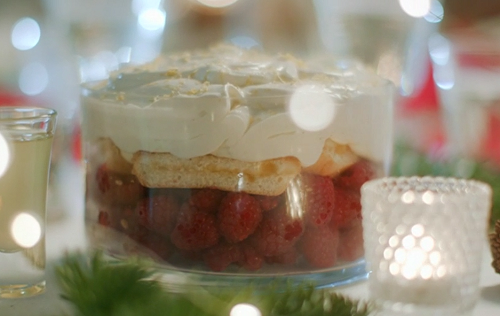 Mary Berry limoncello trifle on Mary Berry's Christmas Party