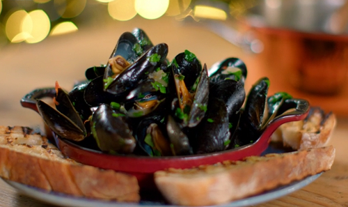 Paul Ainsworth mussels broth on The Best Christmas Food Ever