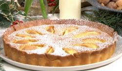 Jamie Oliver pear and almond tart on This Morning
