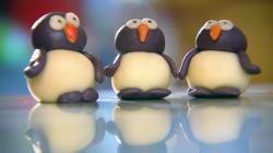 Kirstie Allsopp's marzipan penguins on Kirstie's Handmade Christmas