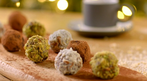 Catherine's rum and marzipan truffles on The Best Christmas Food Ever