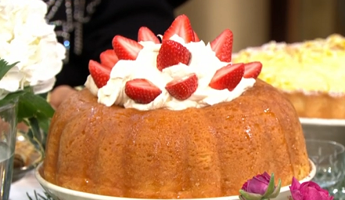 Jamie Oliver rum baba dessert on This Morning
