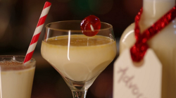 Kirstie Allsopp's snowball with homemade advocaat  on Kirstie's Handmade Christmas
