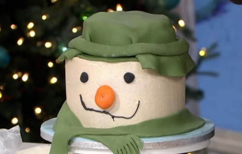 Juliet's showstopping snowman cake on This Morning