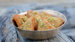 Nadiya Hussain's sweet nimki biscuits with orange syrup and timur peppers on Nadiya' ...