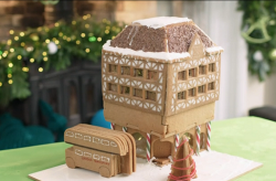 Simon's Tudor gingerbread house on Kirstie's Handmade Christmas