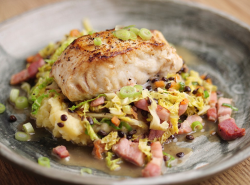 Simon Rimmer Hake With Mash, Cabbage And Bacon on Sunday Brunch