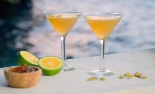 Ainsley Harriott bitter orange cardamom martini on Ainsley's Caribbean Kitchen