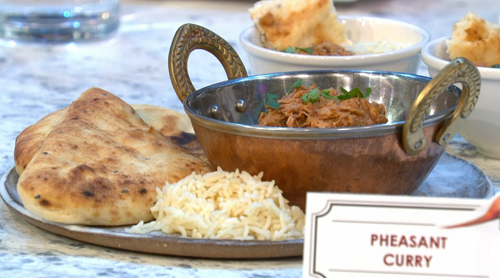 Charlotte Mitchell's pheasant curry on Sunday Brunch