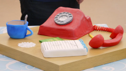 Steven's communication cake on The Great British Bake off for the new year