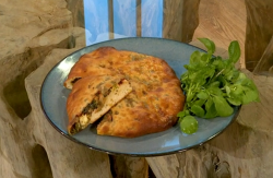 Olia's bread stuffed with beetroot with cheese and onions on Saturday Kitchen