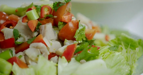 Kelly's South American Pollock ceviche salad on Eat Well for Less