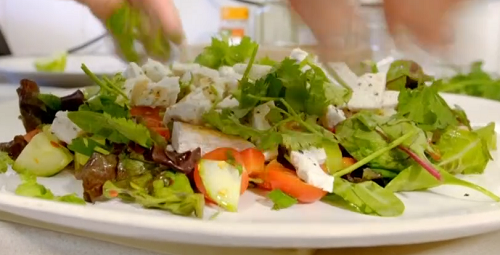 Nick's chicken salad on on James Martin's Great British Adventure