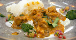 Jim's Massaman curry with rice on Masterchef 2019