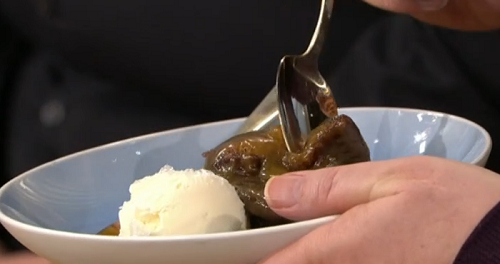 The Hairy Bikers sticky toffee pudding with Harry's honey mustard on This Morning