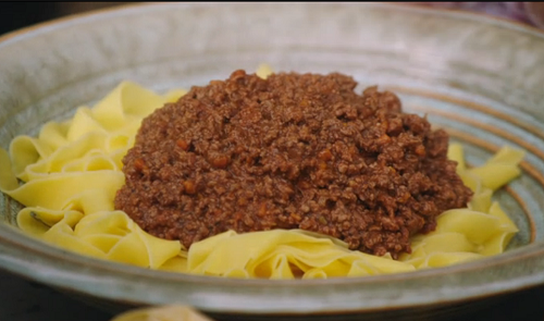 Jamie Oliver muntjac venison ragu on Jamie and Jimmy's Friday night Feast