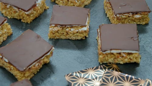 Michelle Keegan's after dinner mint flapjacks on The Great Celebrity Bake Off for stand up ...