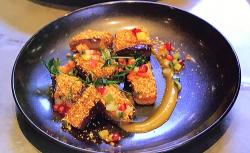 Vivek Singh aubergine curry on Parveen's Indian Kitchen