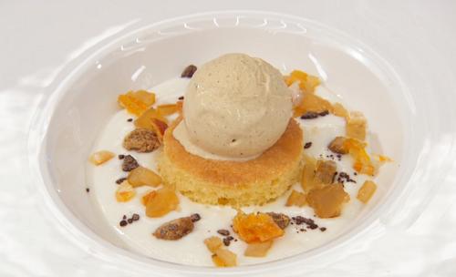 Geoff's Italian cassata amaretto sponge cake with pistachio ice cream on Masterchef 2019