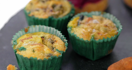 Jilly's courgette frittata muffins for afternoon tea on Masterchef 2019