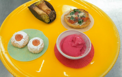 Geoff's Italian afternoon tea with fried pizza and fig leaf sorbet on Masterchef 2019
