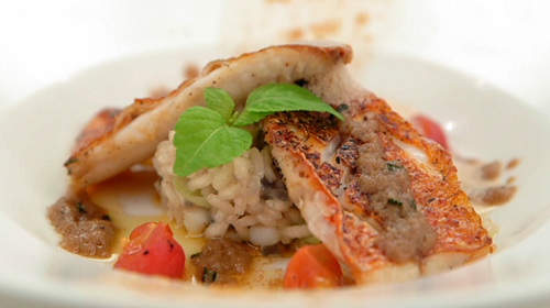Irini's red mullet with squid risotto winning starter on Masterchef 2019