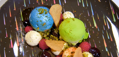 Samira Effa's Paradise, Whatever The Weather dessert on the Great British Menu