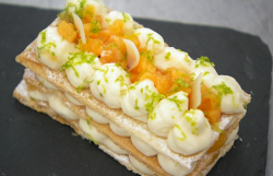 Alex's passion fruit and coconut mille feuille on Masterchef 2019