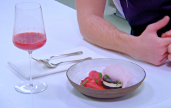 Tom Anglesea From Rags To Riches dessert on the Great British Menu