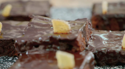Jon Richardson orange and ginger vegan brownies on The Great Celebrity Bake Off for stand up to  ...