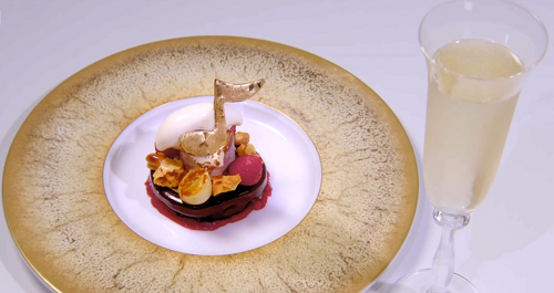 Hrishikesh Desai's And The Winner Is… dessert on the Great British Menu