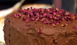 Sue Quinn Arabian Night Chocolate Cake with Rosewater  on Sunday Brunch