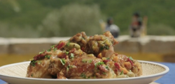 Gino's chicken in Sardinian beer on John and Lisa's Weekend Kitchen